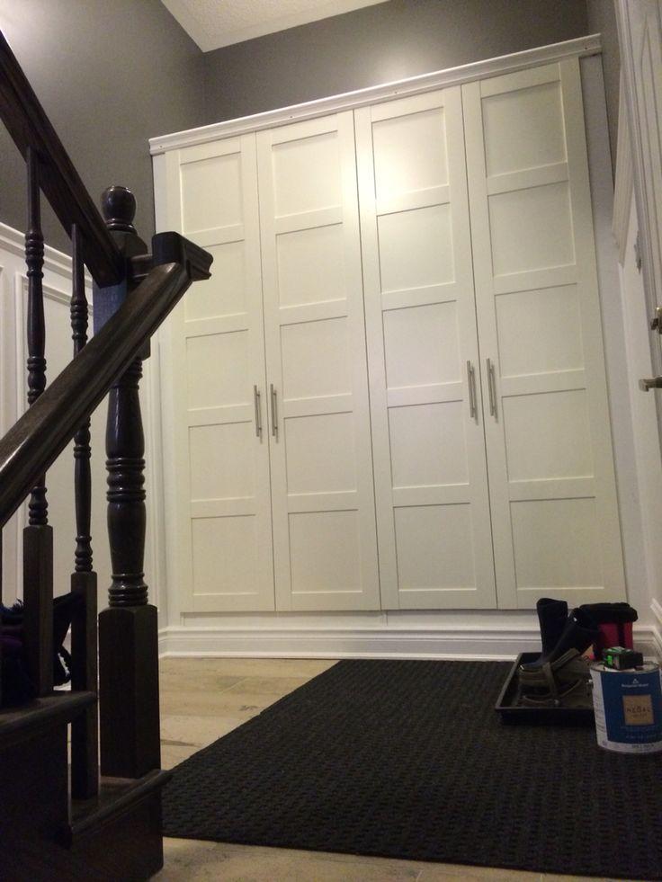 Panelled Room: Mudroom Storage - 2 IKEA Pax Wardrobes