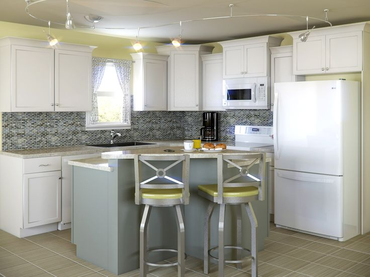 8 best images about kitchens with white appliances on for Gray kitchen cabinets with white appliances