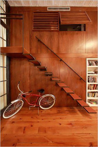 Stairway - Billy Morrissette's SoHo Loft, New York NY // via New York Times