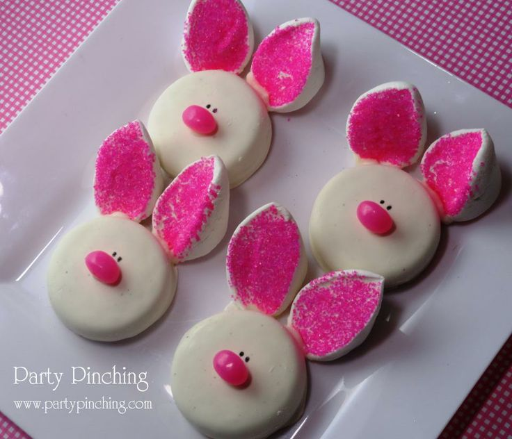 Oreo bunny cookies... really cute!