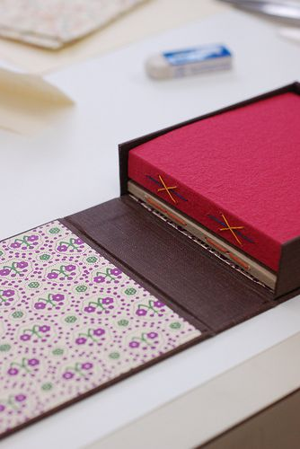handbound longstitch books in a lovely case - bookbinding