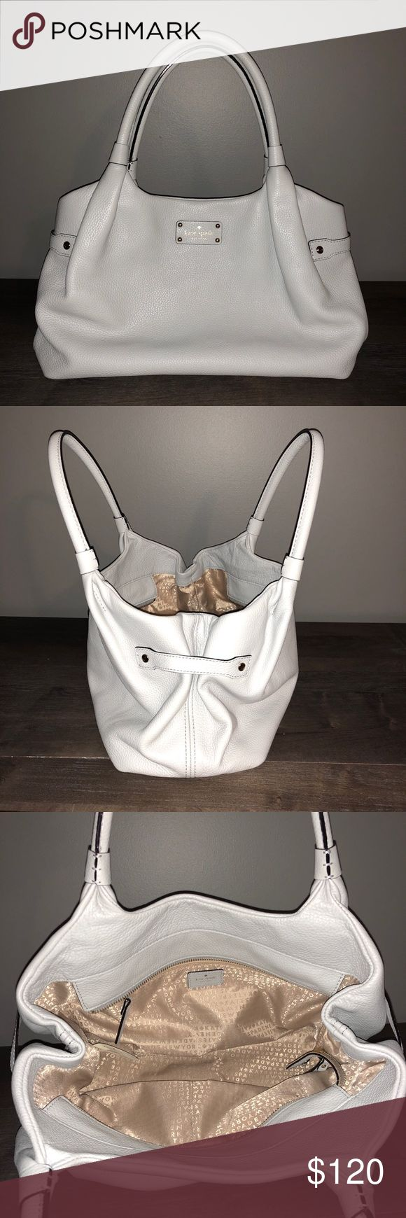 Kate Spade Purse Beautiful light grey shoulder bag great for any season! Very gently used. Only carried the bag 4 days on vacation. kate spade Bags Shoulder Bags