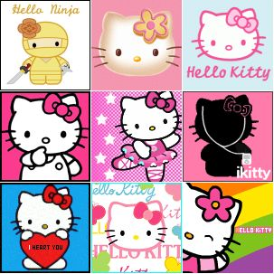 Hello Kitty Icons Collage 1