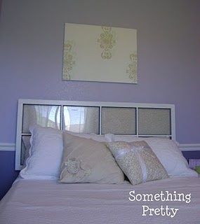 How to hang window pane headboard