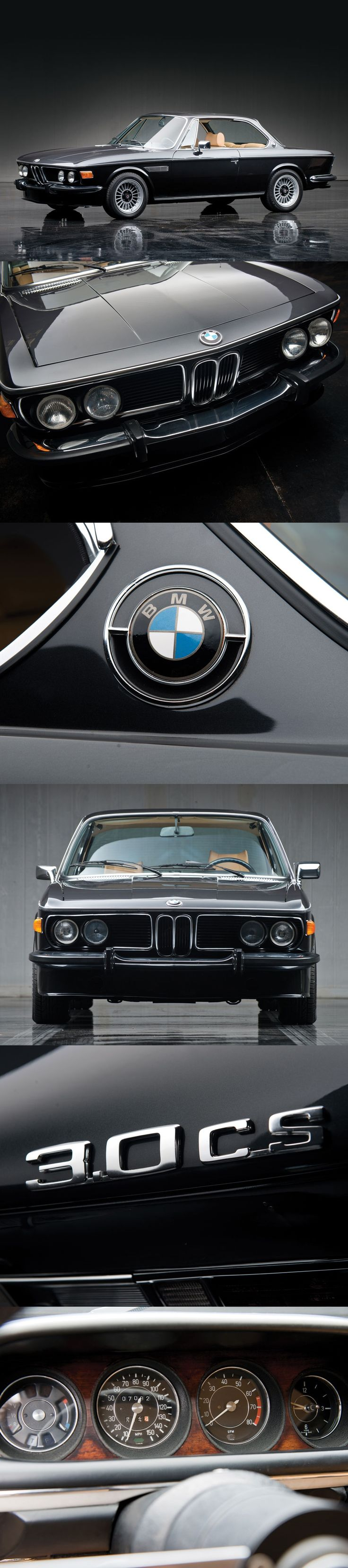1974 BMW 3.0 CS. Coupe perfection & BMW high point in a horrible era for automobile design.