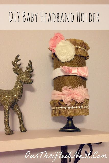 Nursery Decor: DIY Burlap Baby Headband Holder