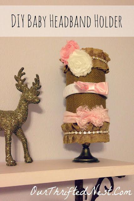Nursery Decor: DIY Burlap Baby Headband Holder