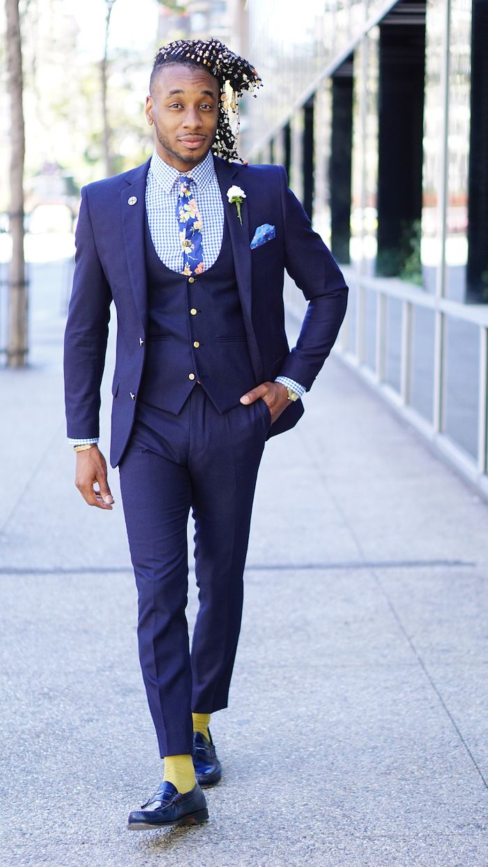devred costume homme hugo boss slim 3 pieces bleu marine 45e3d876e9c