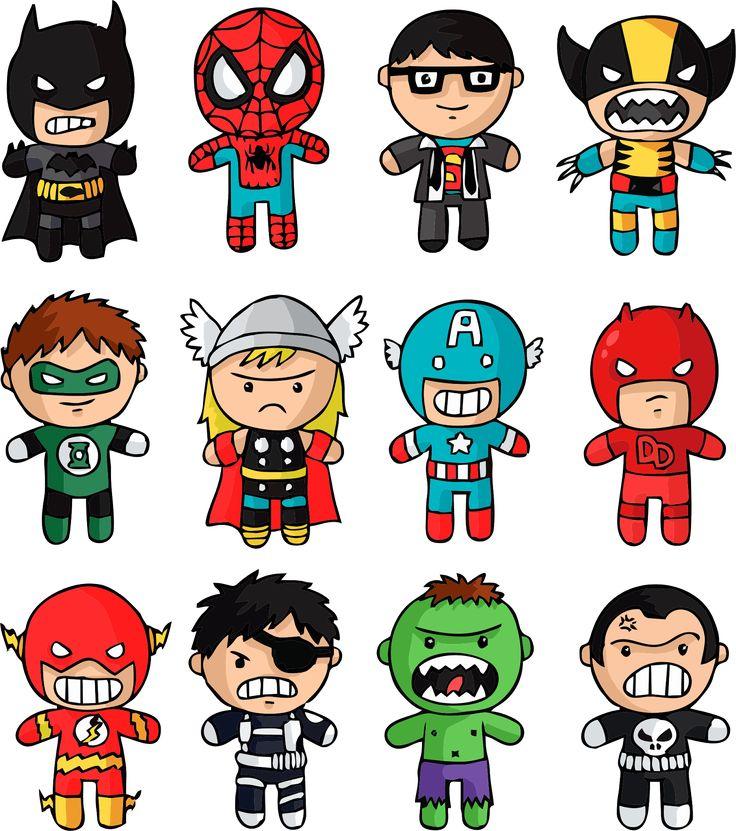 Sublimando Ideias: Vetores - Chibi - Os Super Heróis Bebês