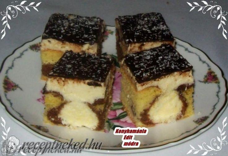 kókuszgolyós kevert süti