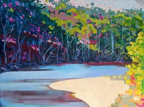 Gunyulgup Lake Acrylic on Canvas 120cms x90cms