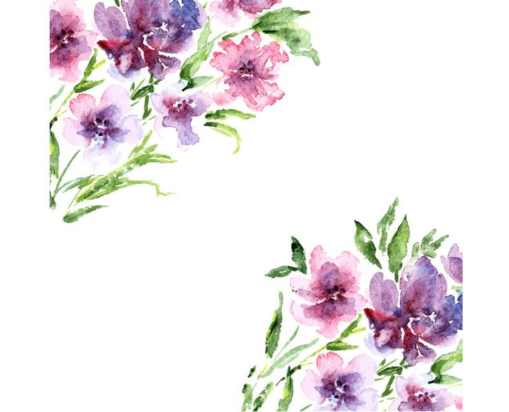 Best 25 background clipart ideas on pinterest - High resolution watercolor flowers ...