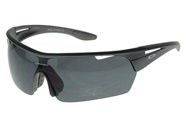 Wholesale Oakley Half Straight Jaquetas Black Frame Gray Lens 2015#Oakley Sunglasses