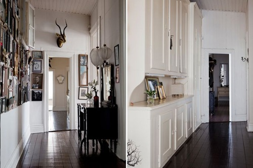 Cupboards with display shelf