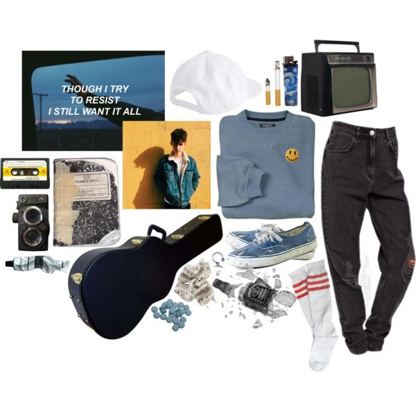 Blue Memories by softgore on Polyvore featuring Aesop, Mark's Tokyo Edge, Vans, Plane, Delfina and living room
