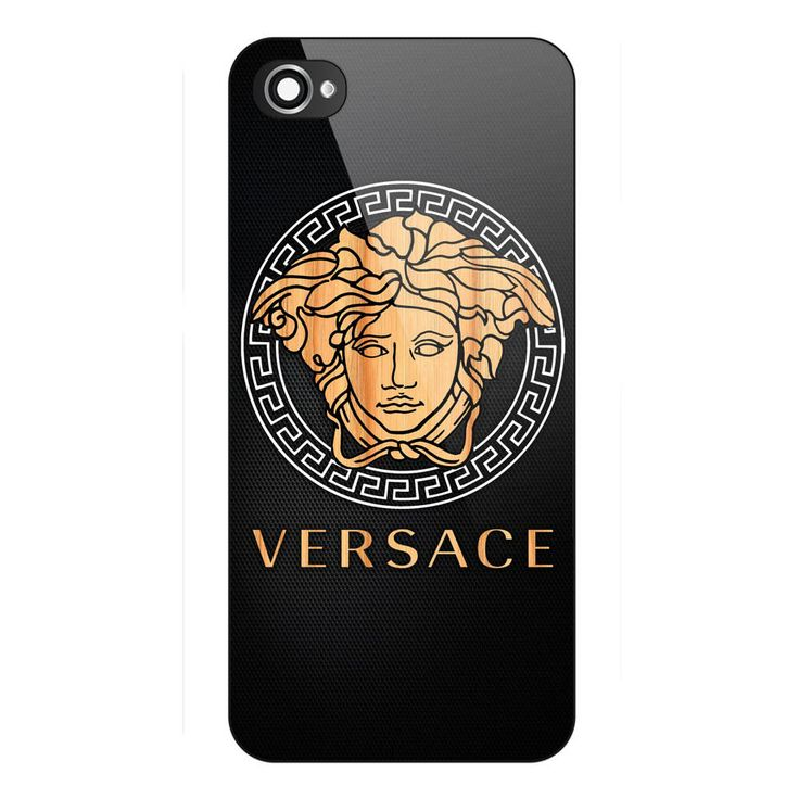 Cheap New Rare Best Versace-Wood-Logo-Carbon Hard Plastic Case Cover for iPhone #UnbrandedGeneric