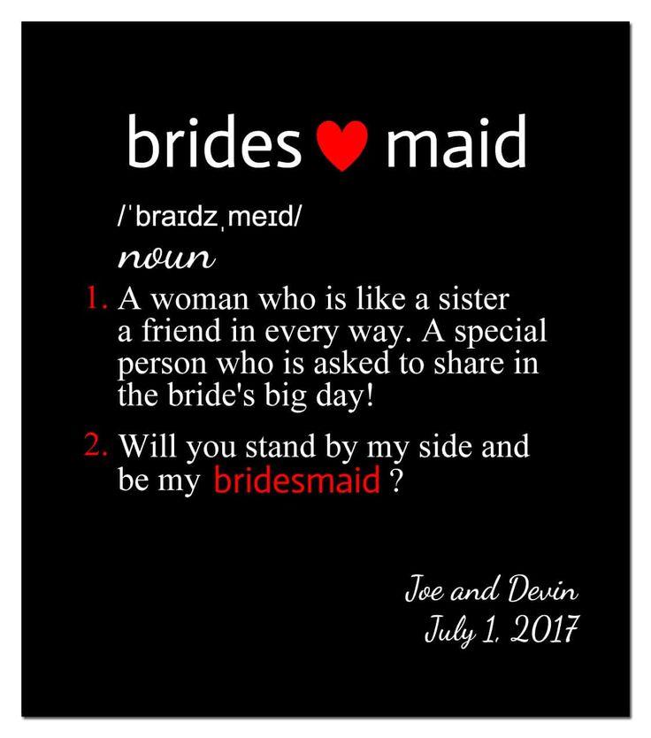 Wine Label Bridesmaid Noun