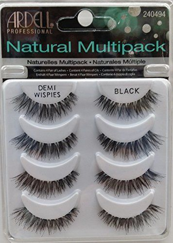 THE Best 4 Pairs Ardell Demi Wispies Natural Multipack False Eyelashes Fake Eye Lashes. 100% brand new and authentic Ardell Eyelashes. designed to look natural and feel great for everyday use.
