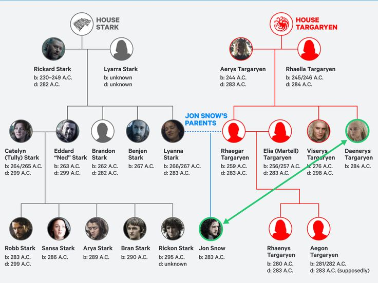 Image result for JON SNOW'S FAMILY TREE, 2017