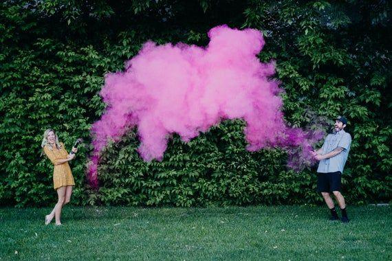 Gender Reveal Powder Smoke Cannons Premium Holi Powder Smoke Cannon Gender Reveal Smoke Powder Cannons Pink Blue Cannon Confetti Cannon Gender Reveal Gender Reveal Smoke Confetti Gender Reveal