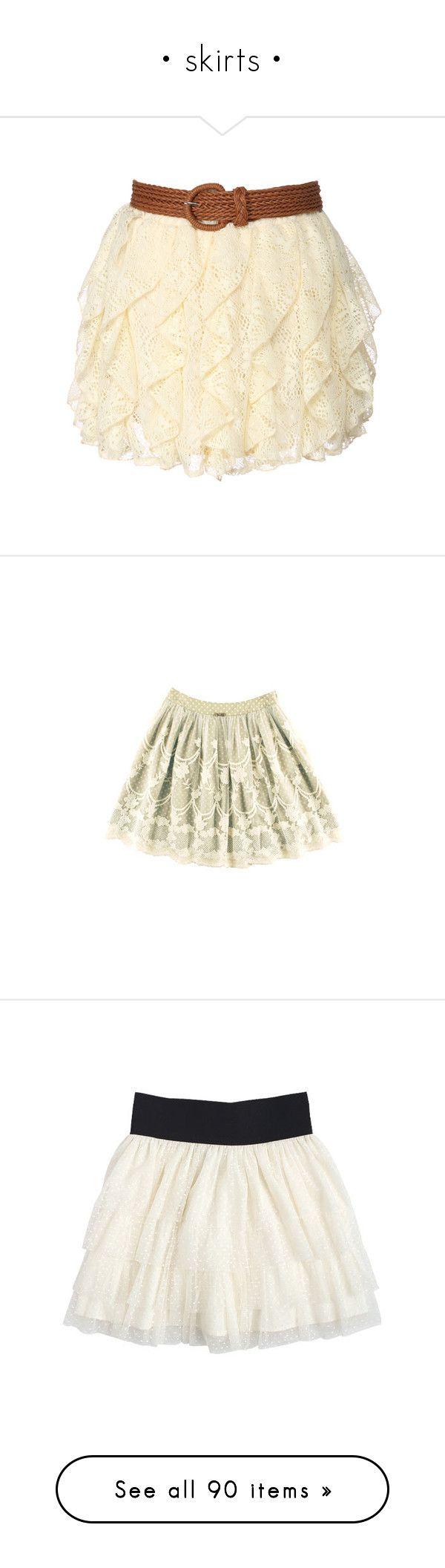 """• skirts •"" by hollamika ❤ liked on Polyvore featuring skirts, mini skirts, bottoms, saias, faldas, women, beige skirt, crochet mini skirt, macrame skirt and beige crochet skirt"