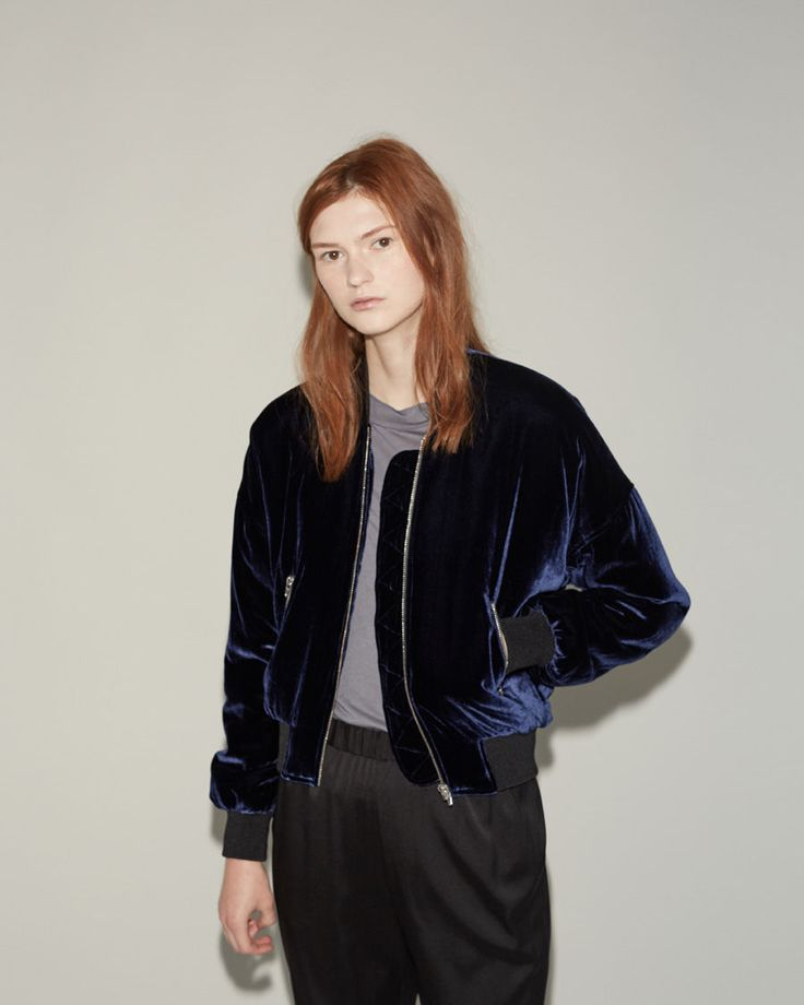 T BY ALEXANDER WANG | Velvet Bomber | Shop at La Garçonne
