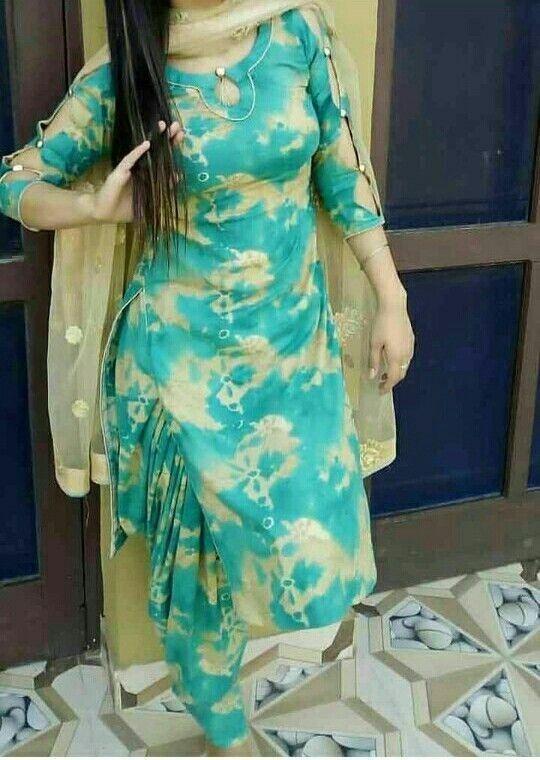 punjabi salwar suit neck design with laces