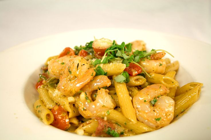 : Blackened shrimp penne pasta- Corn, roasted poblano peppers ...
