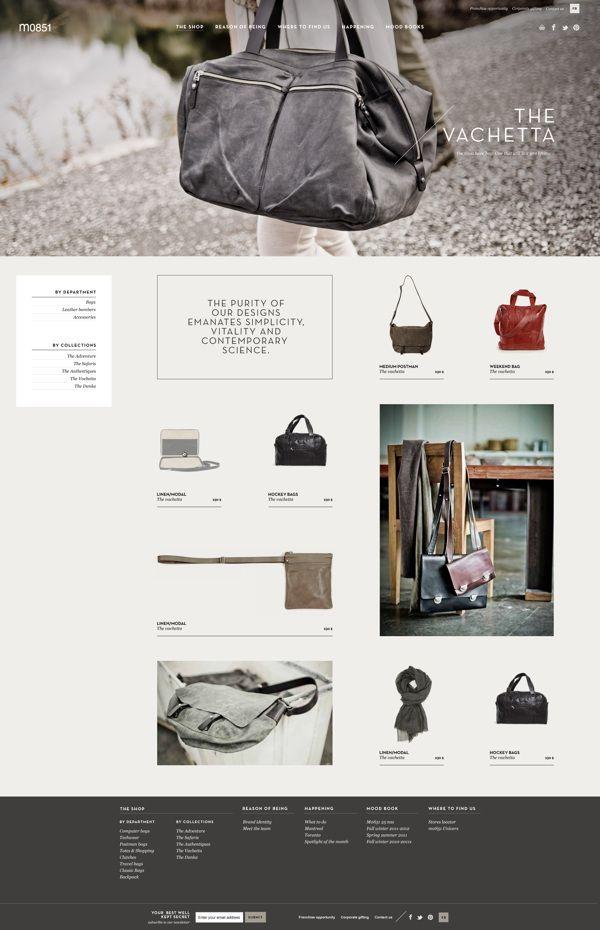 m0851 website by Catherine Marois, via #Behance #Webdesign