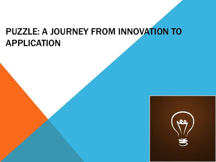 Puzzel A Journey From Innovation to Application