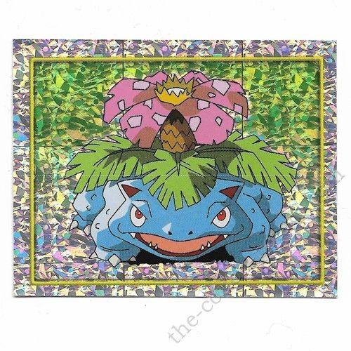 Pokemon Sticker Card  Venusaur venasaur foil # 124 2x3 inches Merlin 2000 TV show pictures