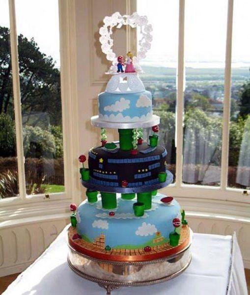 Die Super Mario Hochzeitstorte
