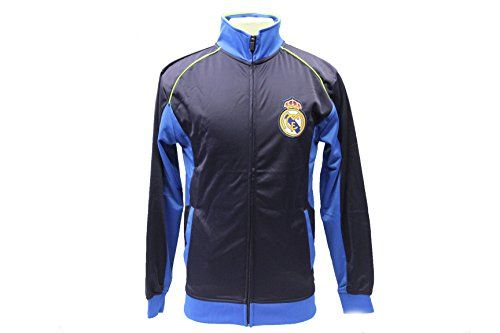 Real Madrid Jacket Track Soccer Adult Sizes Soccer Football Official Merchandise (Navy, S)