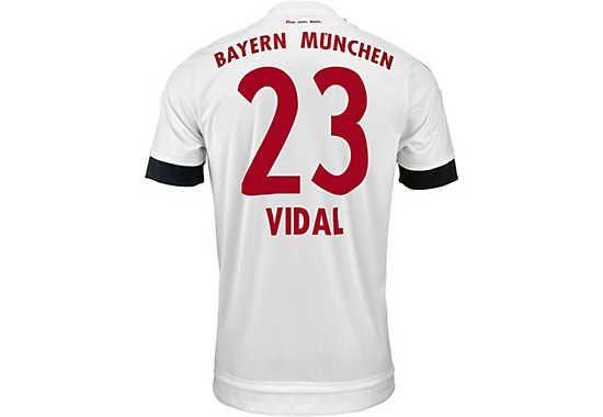 adidas Kids Arturo Vidal Bayern Munich Away Jersey 2015-16