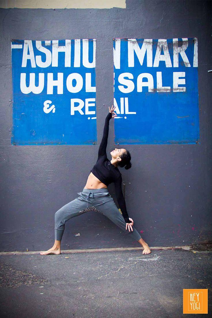 Reverse Virabhadrasana   Justine Barnes.  Yoga photography by Nora Wendel from HEY YOGI.  Cape Town 2015