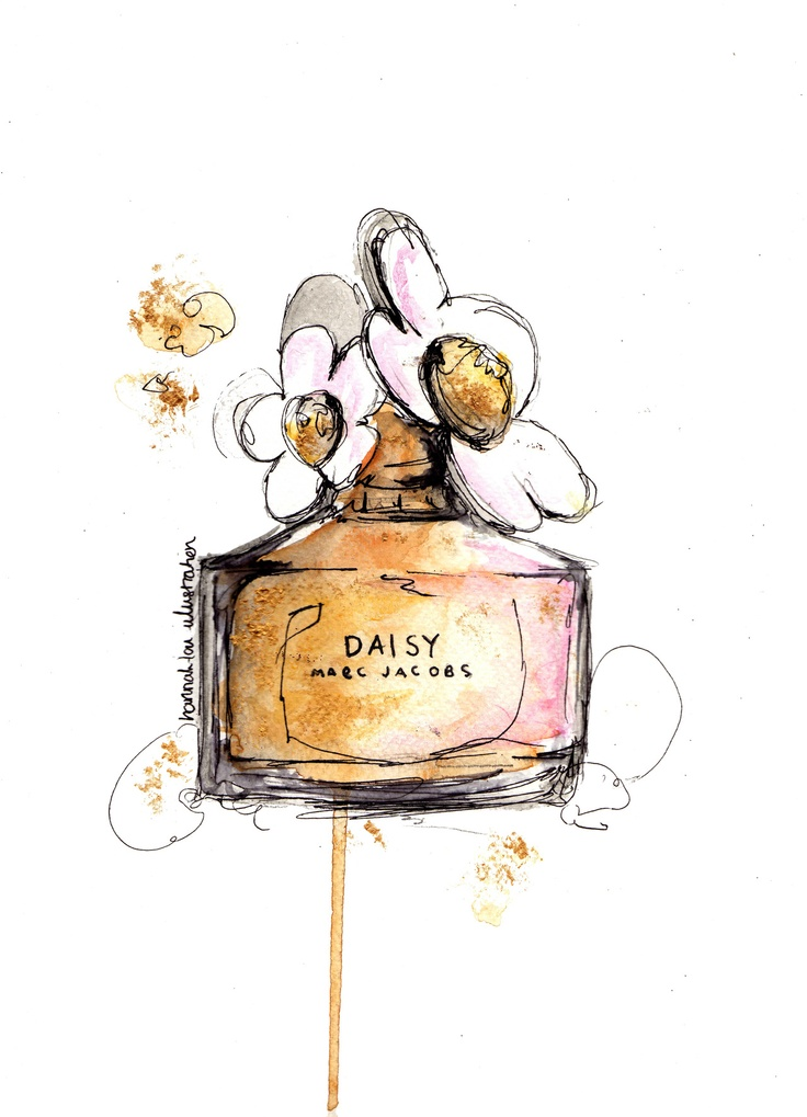 Daisy by Marc Jacobs via Hannah-Lou Illustration // The bottles are just so pretty and girly