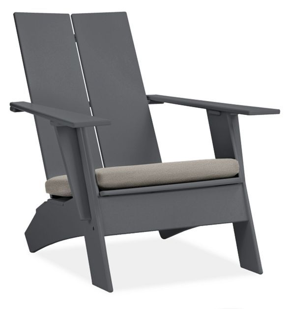Emmet Outdoor Chair With Cushion Modern Outdoor Chairs Chaises Modern Outdoor Furniture Outdoor Chairs Modern Outdoor Chairs Chair Ottoman