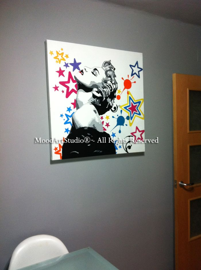 Cuadro moderno Madonna pop art. Al ser un cuadro personalizado no podemos dejaros el link..Gracias Marcos por mandarnos la foto!  Aqui el link de nuestra pagina:http://www.moodartstudio.es