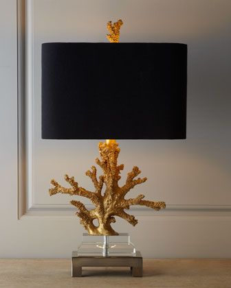 """""""Gold+Coral""""+Lamp+at+Neiman+Marcus."""