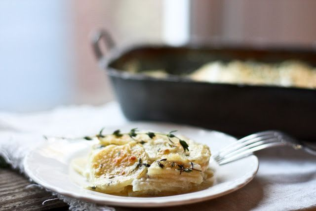 Parsnip Gratin with Gruyere and Thyme | Gratin, At Home and Recipe