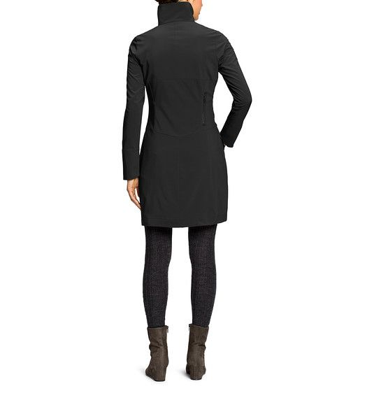 Weather-resistant recycled polyester dress