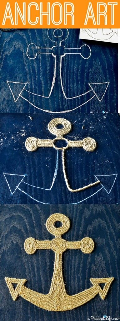 A Prudent Life | Make you own nautical art out of twine - no tools required tutorial!