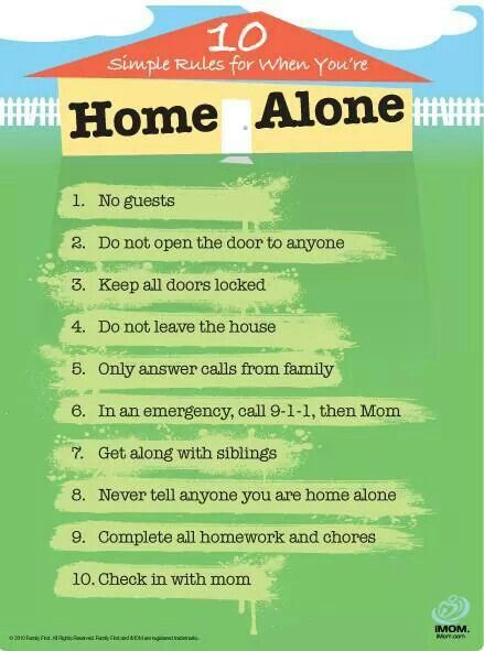 Indispensable Kid Rules Every Parent Should Follow home alone rules ...when the kids get older