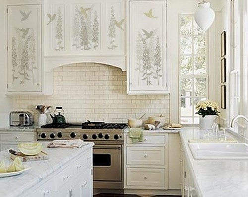 Kitchen Cabinets With Stencil Designs