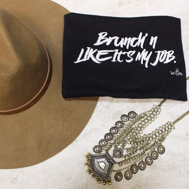 Brunch'n follow us on snapchat to get sneak peeks and more! @shopelysian shop these new items and more online!Brunch'n Like It's My Job Stonewashed Boyfriend V-Neck $34. online  in store. Ultra Stiff Wool Panama Hat $48. online  in store.  Coined Boho Statement Necklace $28. online  in-store #newitems #springstyle #flatlay #ootd #fashion #wiw #fridayvibes #weekendwear #elysianlove #freeshipping http://ift.tt/1MK2BJS Brunch'n follow us on snapchat to get sneak peeks and more! @shopelysian…