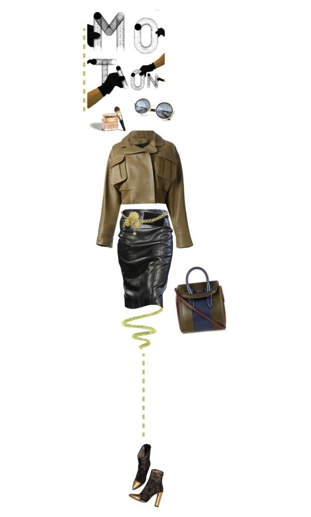 Fall Motion by fl4u on Polyvore featuring Balmain, Alexander McQueen, Gianfranco Ferré, COVERGIRL, Christian Dior, monochrome, olivegreen, fallglamour, motion and theINSIDERbyfashionlook4u: