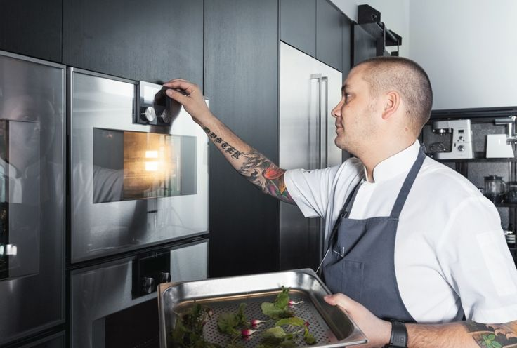 Chef Ryan Clift uses the Gaggenaucombi-steam oven torealisehis innovative recipe ideas in his Research & Development Kitchen at the Tippling Club. Photography by Bodo Mertoglu.