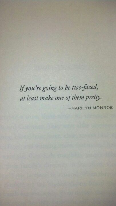 Marilyn's beauty advice for two faced people..... How about just don't be two faced .....