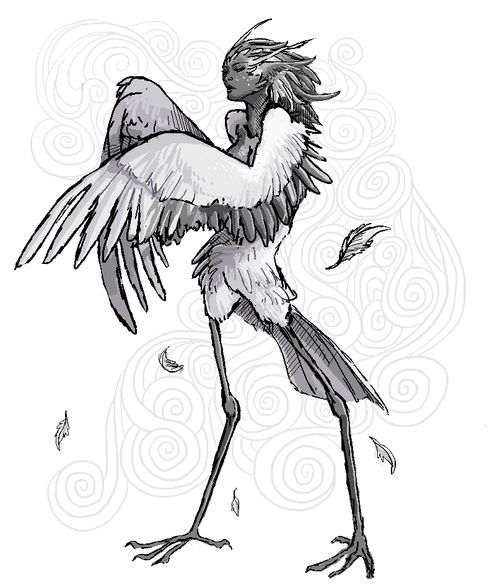 30 day monster girl challenge day 1: harpy. By aysta on Tumblr.Monsters Girls, Girls Generation, Girls Challenges