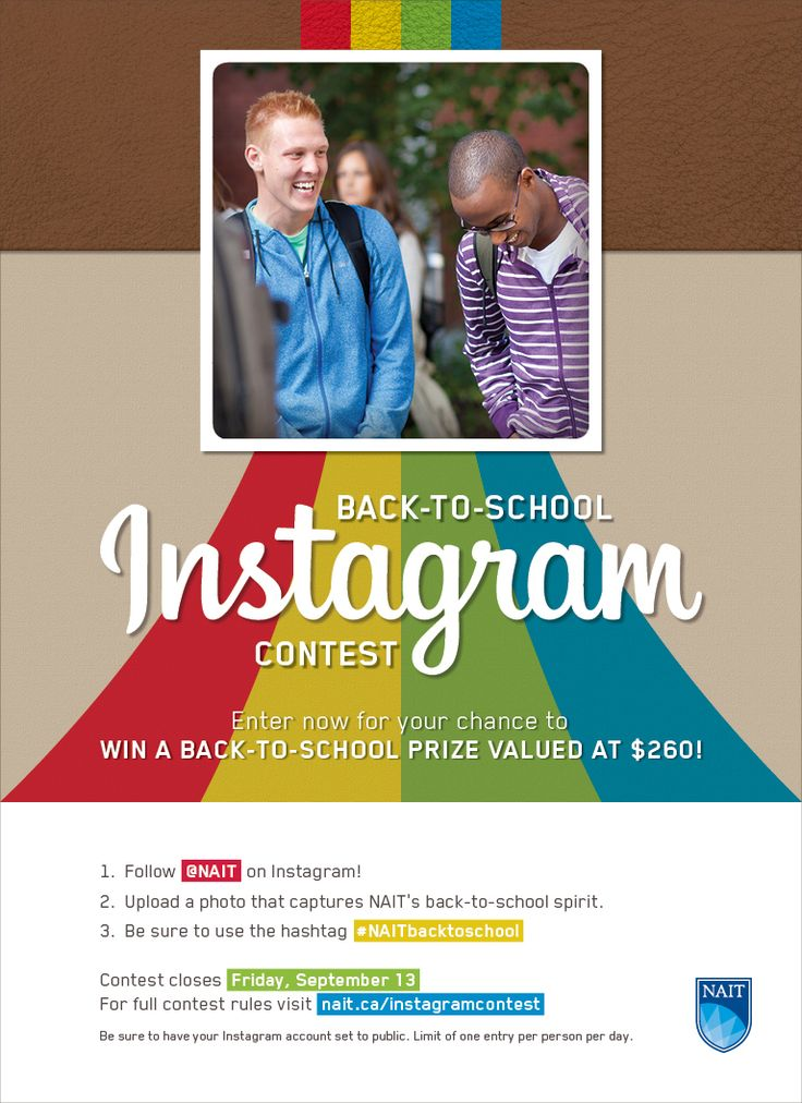 Enter the #NAITbacktoschool Instagram contest! For a chance to win great prizes: Follow #NAIT on Instagram. Upload a back to school photo. Set your account to public! You can enter one photo per day from Aug. 29 - Sept. 13! Click to read the full contest rules! #yeg #Edmonton #abpse #contests